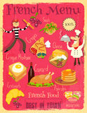 French Food Menu Royalty Free Stock Photos