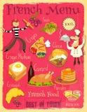 French Food Menu Royalty Free Stock Photos