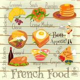 French Food Menu Stock Image