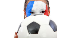 French football fan Royalty Free Stock Photos