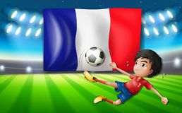 A french football player template Stock Photos