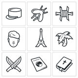 French Foreign Legion icons. Vector Illustration Royalty Free Stock Photos
