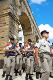French Foreign Legion. Pont du Gard Stock Photos