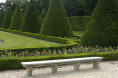 French formal garden Royalty Free Stock Photo