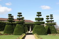 French formal garden Stock Photos
