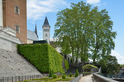 French formal garden of the Chateau de Pau Royalty Free Stock Photography