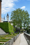 French formal garden of the Chateau de Pau Stock Images