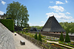 French formal garden of the Chateau de Pau Stock Image