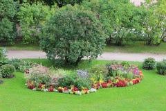 French formal garden in Tsarskoye Selo Royalty Free Stock Photo