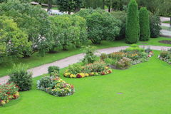 French formal garden in Tsarskoye Selo Stock Image
