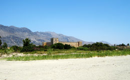 French fort (Fragokastello) in Creta Island, Greece Royalty Free Stock Images