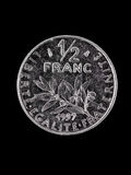 French Franc  coin Royalty Free Stock Images