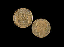 2 French francs 1932 Stock Photo