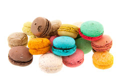 French fresh Macaroons Royalty Free Stock Photo