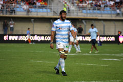 French friendly rugby match USAP vs Racing Metro Stock Photo