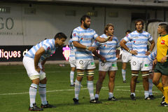 French friendly rugby match USAP vs Racing Metro Royalty Free Stock Photos