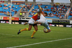 French friendly rugby match USAP vs Racing Metro Royalty Free Stock Images