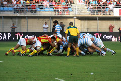 French friendly rugby match USAP vs Racing Metro Stock Photography