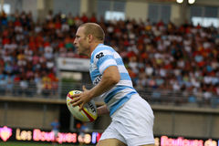 French friendly rugby match USAP vs Racing Metro Royalty Free Stock Photo