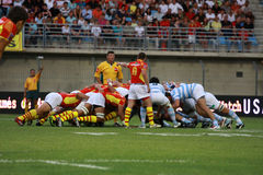 French friendly rugby match USAP vs Racing Metro Stock Images