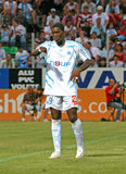 French friendly soccer match OM vs TFC. Olympique de Marseille's Djibril Cisse during the french friendly soccer match, Olympique de Marseille vs Toulouse Royalty Free Stock Photo