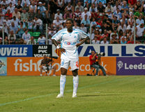 French friendly soccer match OM vs TFC. Olympique de Marseille's Djibril Cisse during the french friendly soccer match, Olympique de Marseille vs Toulouse Royalty Free Stock Photography
