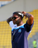 French friendly soccer match OM vs TFC. Olympique de Marseille's Djibril Cisse during the french friendly soccer match, Olympique de Marseille vs Toulouse Royalty Free Stock Images