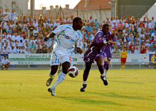 French friendly soccer match OM vs TFC. Olympique de Marseille's Mamadou Niang during the french friendly soccer match, Olympique de Marseille vs Toulouse Stock Image