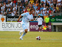 French friendly soccer match OM vs TFC. Olympique de Marseille's Boudewin 'Bolo' Zenden during the french friendly soccer match, Olympique de Marseille vs Royalty Free Stock Photography