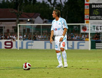French friendly soccer match OM vs TFC. Olympique de Marseille's Boudewin 'Bolo' Zenden during the french friendly soccer match, Olympique de Marseille vs Royalty Free Stock Photo