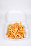 French Fries. A Batch of French Fries in a Take Out Container stock images