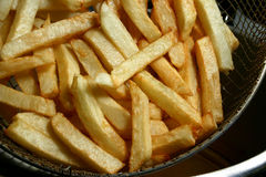 French fries. Homemade french fries ready to serve Stock Images
