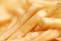 French fries. Pic of close-up French fries background Stock Image