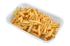 French fries. In a white plastic plate Royalty Free Stock Images