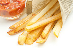 French fries. And dipping sauce Royalty Free Stock Photography
