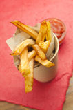 French fries. And dipping sauce on a table Stock Image