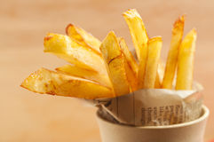 French fries. Close up of french fries in a cup Royalty Free Stock Image