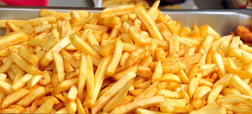 French fries. A lot of french fries Stock Photography