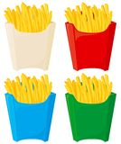 French fries. In 4 color variation Royalty Free Stock Image