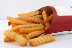French fries. Hot and fresh french fries Royalty Free Stock Image