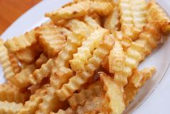 French Fries. A plate of fresh french fries Stock Image