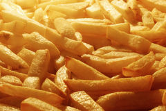 French fries. Hot jumbos in the cooker Royalty Free Stock Image