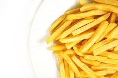 French fries. On white background Stock Photos