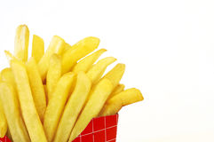 French fries. On white, space for messages Stock Photo