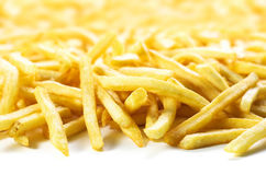 French fries. A big amount of french fries Stock Photos
