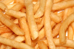 French Fries. A plate of french fries with salt on them Stock Photo