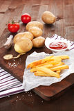 French fries background. Stock Image