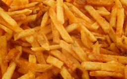 French fries background Stock Photo