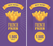 French fries banners Stock Photos