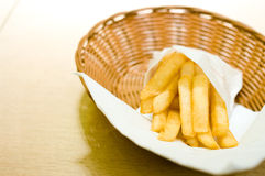 French fries in basket Royalty Free Stock Photo